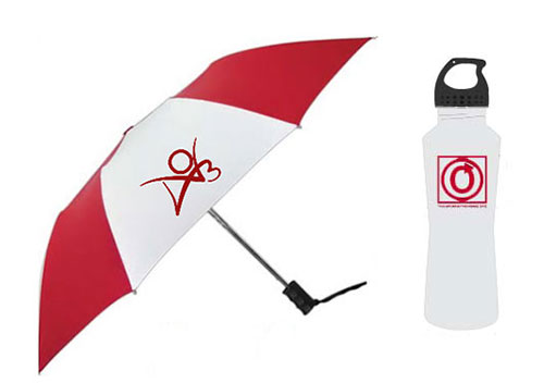AO3 Umbrella + Stainless Steel Water Bottle combination pack